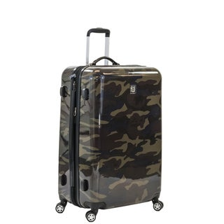 Ful Ridgeline 24-inch Upright Hard Case, Camo Spinner Rolling Luggage Suitcase