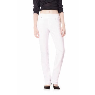 Bluberry Denim Women's Ella Prism White Straight-leg Jeans