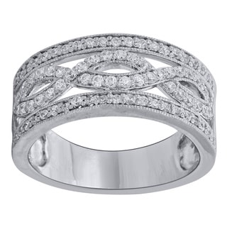 10k White Gold 5/8ct TDW Diamond Anniversary Band