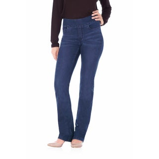 Bluberry Women's Sarah Blue Rinse Denim Straight Leg Jeans