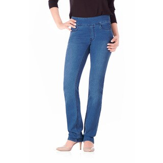 Bluberry Denim Women's Harper Medium Blue Denim Straight Leg Jeans