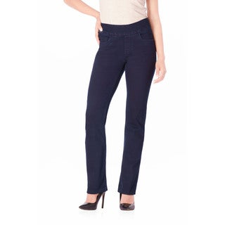 Bluberry Denim Women's Gwen Dark Denim Premium Straight-leg Jeans