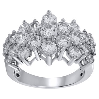 14K White Gold 3ct TDW Diamond Anniversary Ring
