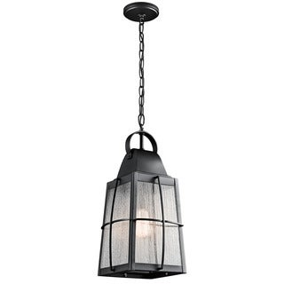 Kichler Lighting Tolerand Collection 1-light Textured Black Outdoor Pendant