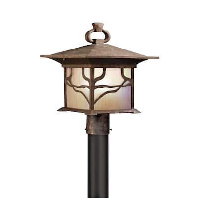 Kichler Lighting Morris Collection 1-light Distressed Copper Outdoor Post Lantern