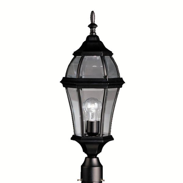 Kichler Lighting Reviews: Shop Kichler Lighting Townhouse Collection 1-light Black