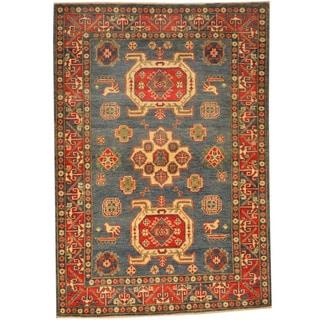 Herat Oriental Afghan Hand-knotted Kazak Wool Rug (4'2 x 6')