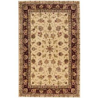 Herat Oriental Indo Hand-tufted Wool & Silk Tabriz Rug (3'6 x 5'5)