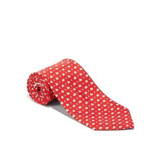 Salvatore Ferragamo Men's Red Elephant Silk Neck Tie