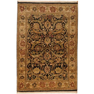 Herat Oriental Indo Hand-knotted Mahal Wool Rug (4' x 6')