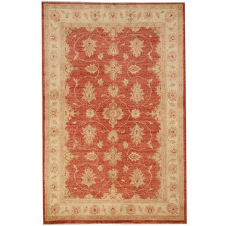 Herat Oriental Afghan Hand-knotted Vegetable Dye Oushak Wool Rug (4'1 x 6'3)