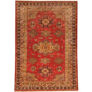 Herat Oriental Afghan Hand-knotted Super Kazak Wool Rug (4' x 5'8)
