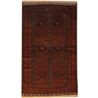 Herat Oriental Semi-Antique 1960's Afghan Hand-knotted Balouchi Wool Rug (3'6 x 6')