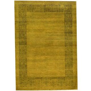 Herat Oriental Indo Hand-knotted Vegetable Dye Gabbeh Wool Rug (4' x 6')