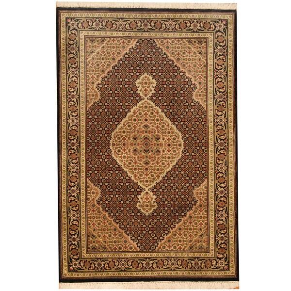 Shop Handmade Herat Oriental Indo Wool & Silk Tabriz Rug