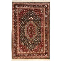 Handmade Herat Oriental Indo Bidjar Wool Rug (India) - 4' x 6'