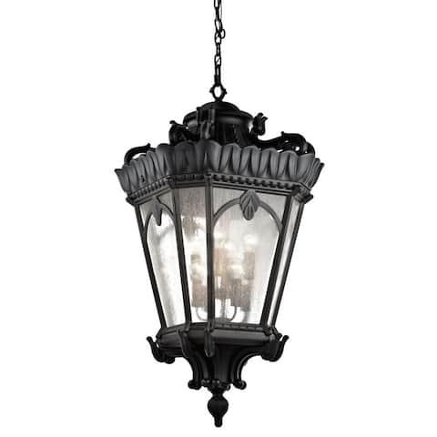 Kichler Lighting Tournai Collection 8-light Textured Black Outdoor Pendant