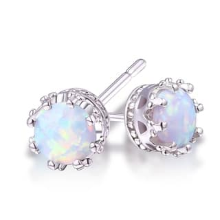 Goldplated 7mm Opal Crown Stud Earrings|https://ak1.ostkcdn.com/images/products/13453242/P20142706.jpg?impolicy=medium