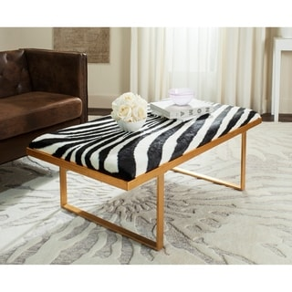Safavieh Millie Loft Zebra/Gold Coffee Table