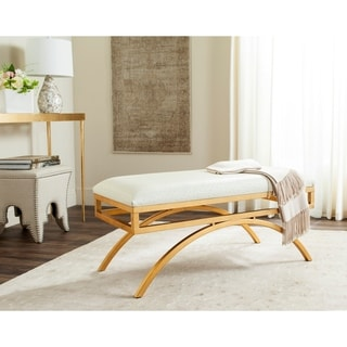 Safavieh Modern Glam Moon Arc Cream/Gold Bench