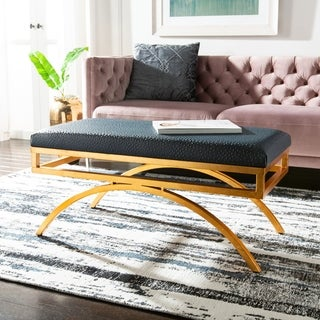 Safavieh Modern Glam Moon Arc Navy/Gold Bench