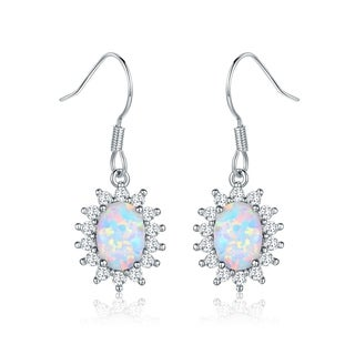 Peermont Jewelry Fire Opal Hanging Drop Earrings