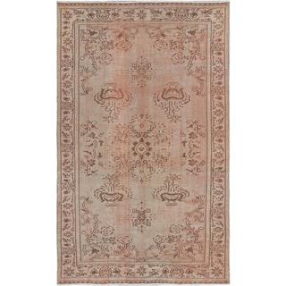 ecarpetgallery Melis Vintage Blue, Ivory Wool Rug (5'5 x 8'10)