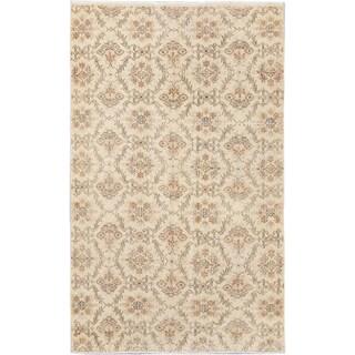 ecarpetgallery Keisari Vintage Yellow  Wool Rug (5'3 x 8'6)