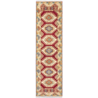 ecarpetgallery Royal Kazak Red Wool Rug (2'9 x 9'10)