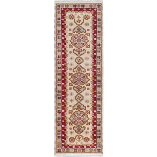 ecarpetgallery Royal Kazak Yellow Wool Rug (2'9 x 8'10)