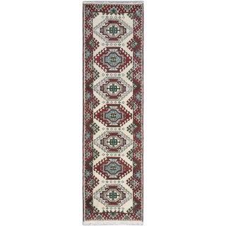 ecarpetgallery Royal Kazak Blue, Red Wool Rug (2'9 x 9'9)
