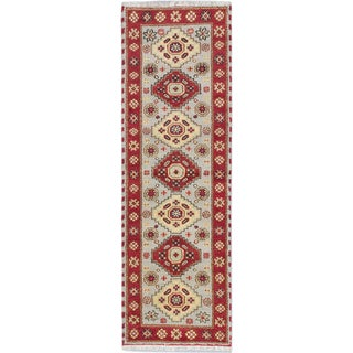 ecarpetgallery Royal Kazak Grey Wool Rug (2'7 x 8'2)