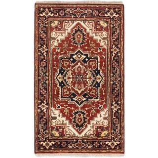 ecarpetgallery Serapi Heritage Brown Wool Rug (3'1 x 5'1)