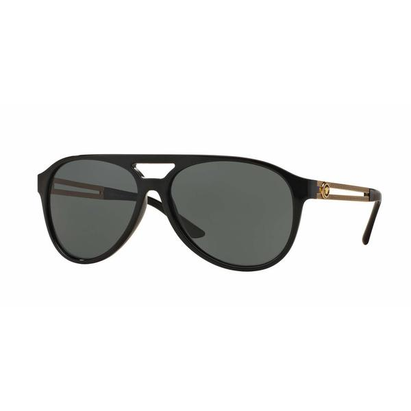 98da5275 Shop Versace Mens VE4312 GB1/71 Black Plastic Cateye Sunglasses ...