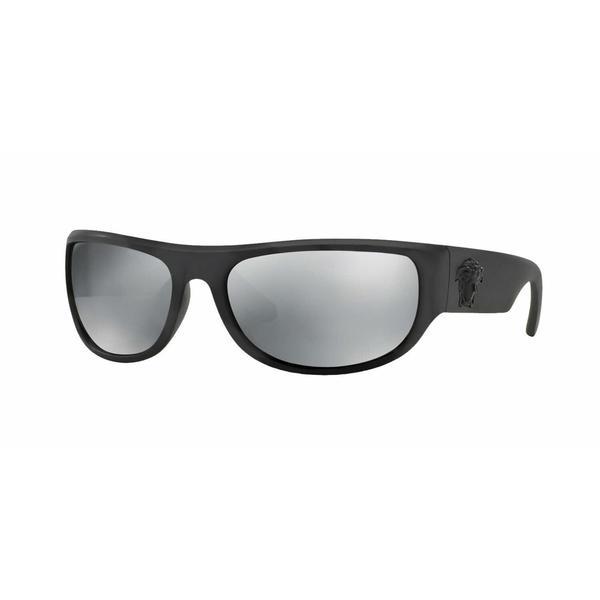 9a6025b9d2239 Shop Versace Mens VE4276 50796G Black Plastic Rectangle Sunglasses ...