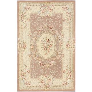 ecarpetgallery savonnerie HT Brown Wool, Silk Rug (5'3 x 8'3)