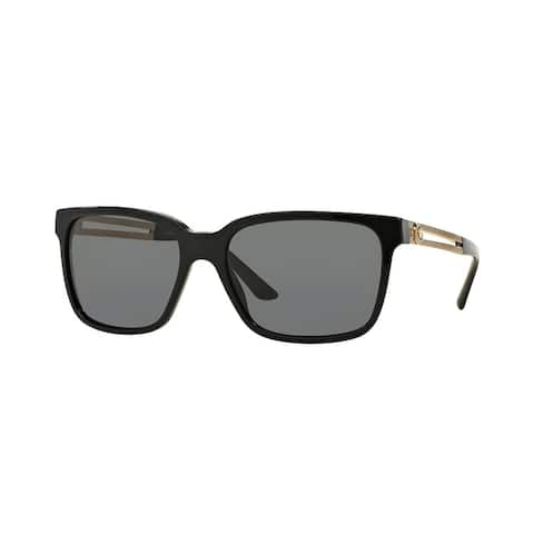 3e5f6f82d99 Versace Mens VE4307 GB1 87 Black Plastic Square Sunglasses