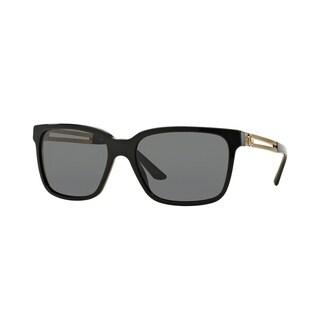 Versace Mens VE4307 GB1/87 Black Plastic Square Sunglasses