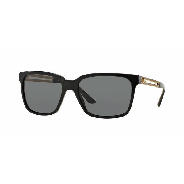 a4b835636a76e Shop Versace Mens VE4307 GB1 87 Black Plastic Square Sunglasses ...