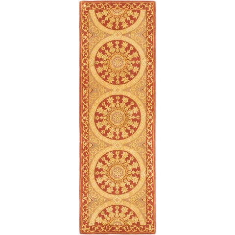 "ECARPETGALLERY Hand Tufted Classic Ht Copper Silk, Wool Rug - 2'7"" x 8'"