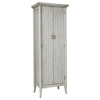 Hand Painted Distressed Grey Wine Cabinet