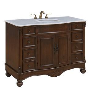 """Somette 48"""" Alameda Single Bathroom Vanity Set in Teak color"""