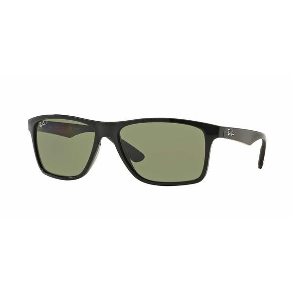 37e868853c Shop Ray Ban Mens RB4234 601 9A Black Plastic Rectangle Sunglasses - Free  Shipping Today - Overstock.com - 13453597