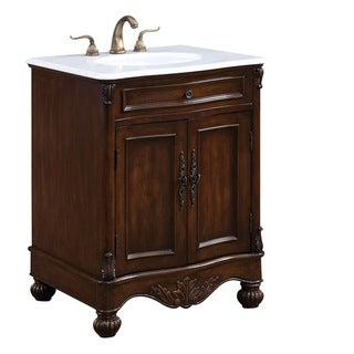 "Somette 27"" Alameda Single Bathroom Vanity set in Teak Color"