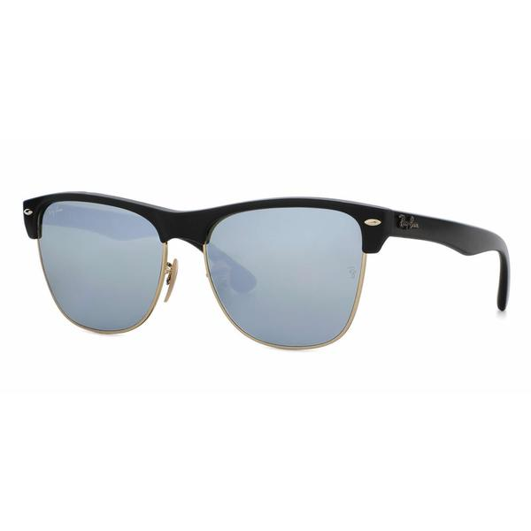8446547424f Ray Ban Mens RB4175 CLUBMASTER OVERSIZED 877 30 Black Plastic Square  Sunglasses
