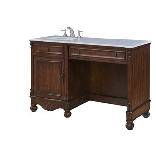 "Somette 52"" Alameda Single Bathroom Vanity Set in Teak Color"