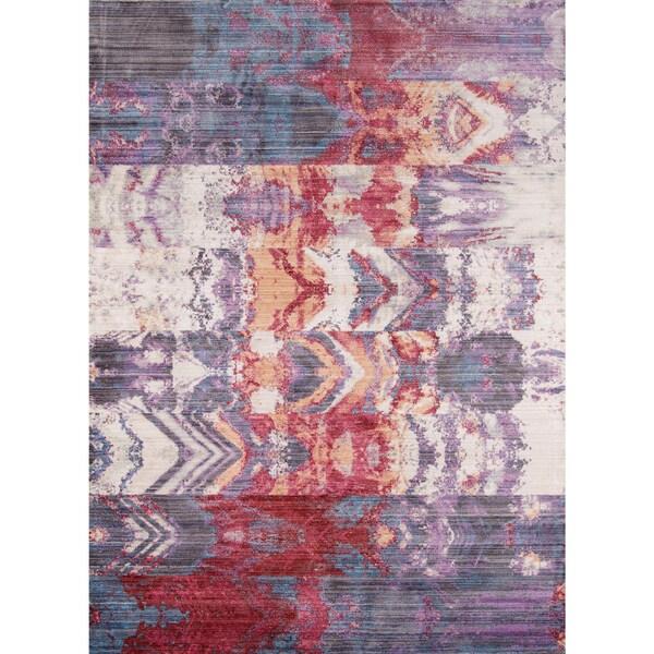 "Momeni Rustic Romance Purple Rug - 8' x 10'2"""