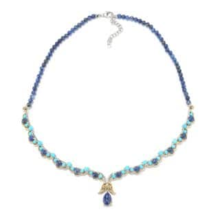 Michael Valitutti Palladium Silver Sleeping Beauty Turquoise and Lapis Necklace|https://ak1.ostkcdn.com/images/products/13453705/P20143111.jpg?impolicy=medium