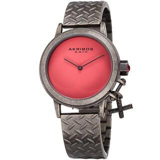 Akribos XXIV Women's Swiss Quartz Charm Antique Gun Bracelet Watch