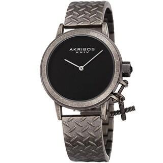 Link to Akribos XXIV Women's Swiss Quartz Charm Antique Black Gun Bracelet Watch Similar Items in Women's Watches